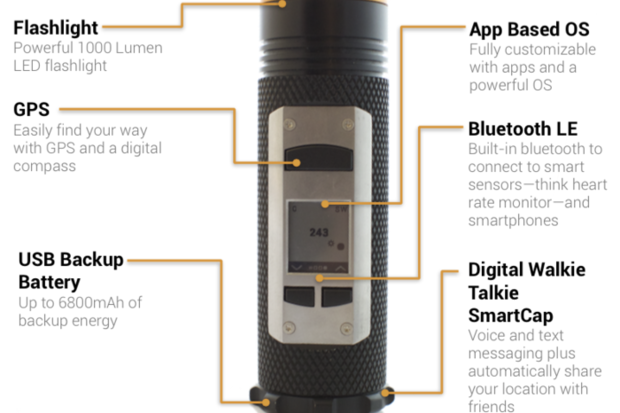The Fogo smart flashlight is a