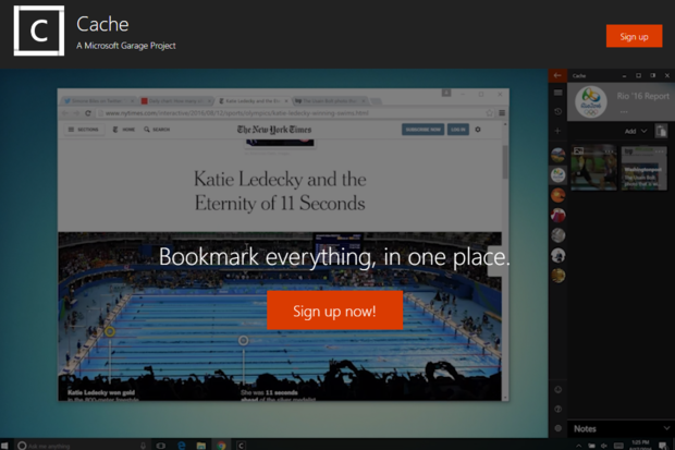 Microsoft's new Cache app could become its version of Google Keep