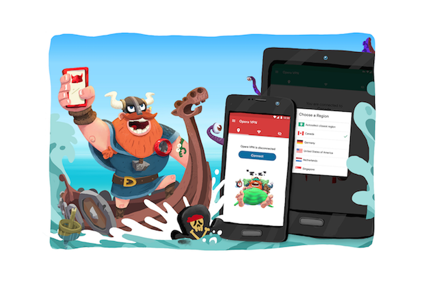 Opera's free VPN app expands to Android