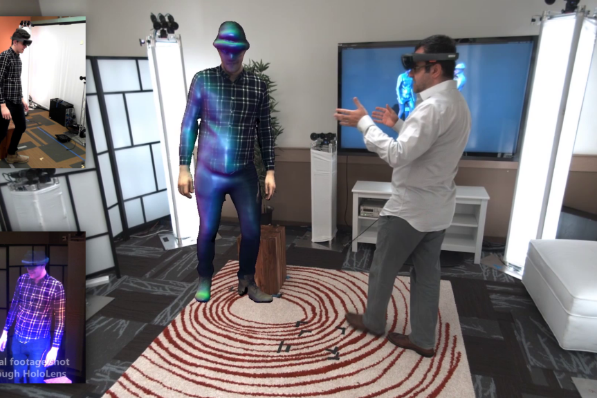 Microsoft's 'Holoportation' will virtually beam you into another room